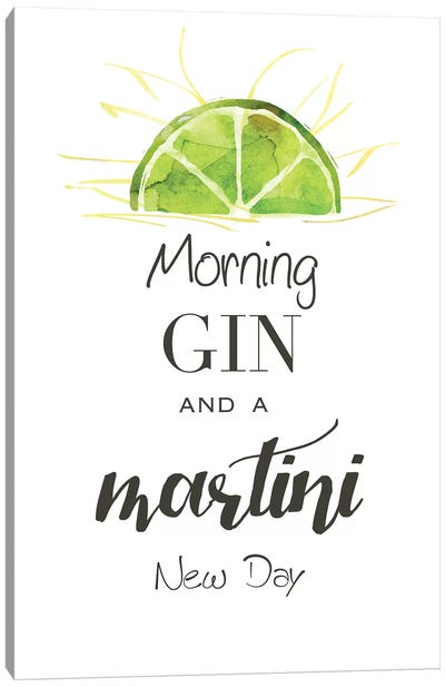 Morning Gin Canvas Art Print
