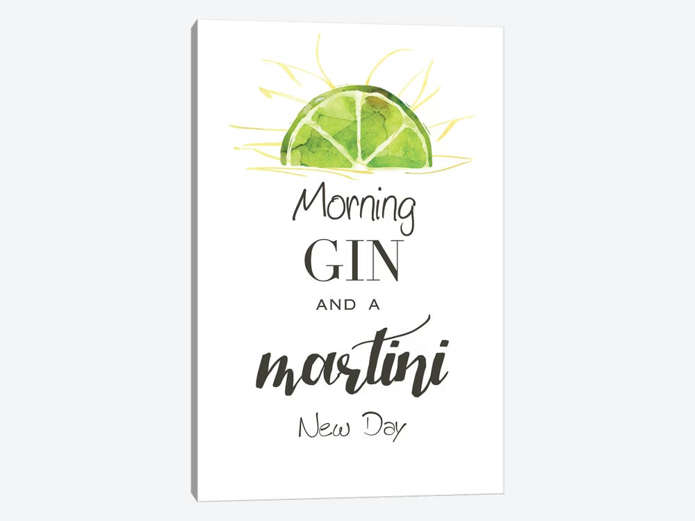Morning Gin by Kelly Donovan 1-piece Canvas Wall Art