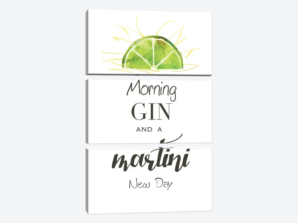 Morning Gin by Kelly Donovan 3-piece Canvas Art