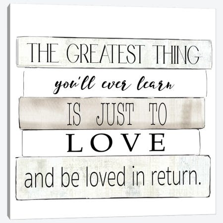 The Greatest Thing Canvas Print #KDO14} by Kelly Donovan Canvas Artwork