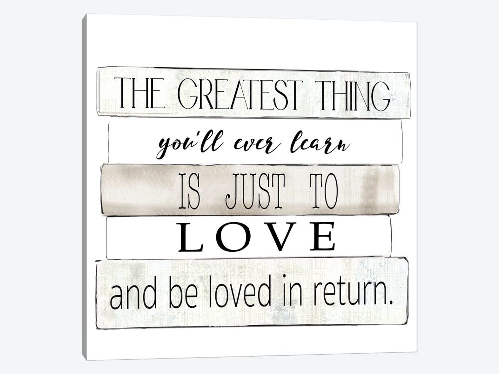 The Greatest Thing by Kelly Donovan 1-piece Canvas Art Print