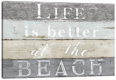 Life Better Beach Canvas Art Print