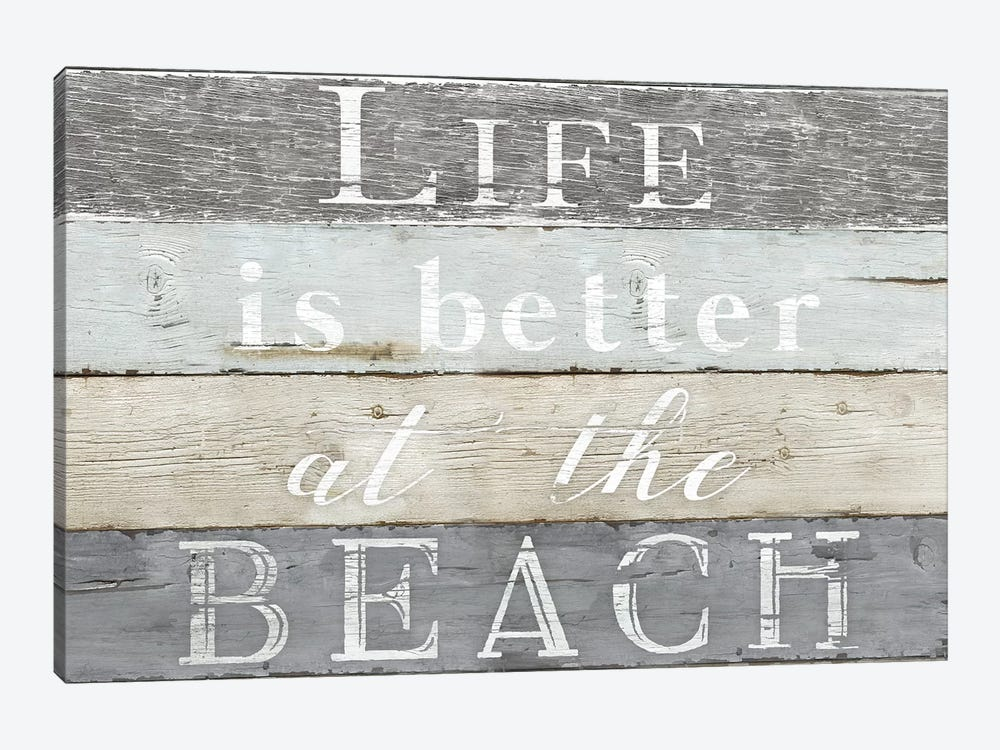 Life Better Beach by Kelly Donovan 1-piece Canvas Artwork