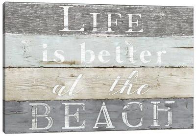 Life Better Beach Canvas Art Print