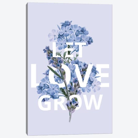 Let Love Grow Canvas Print #KDO20} by Kelly Donovan Canvas Art