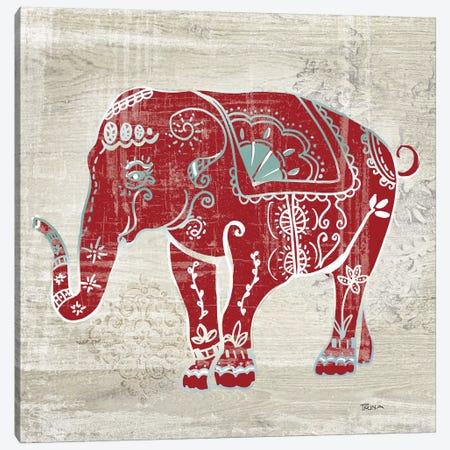 Painted Elephant Canvas Print #KDO2} by Kelly Donovan Canvas Art Print