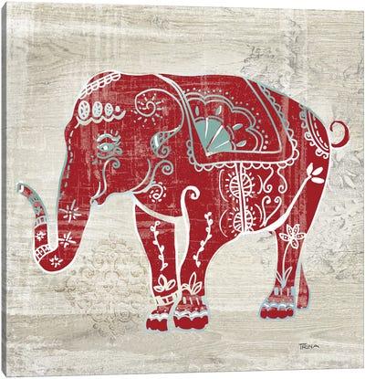 Painted Elephant Canvas Art Print