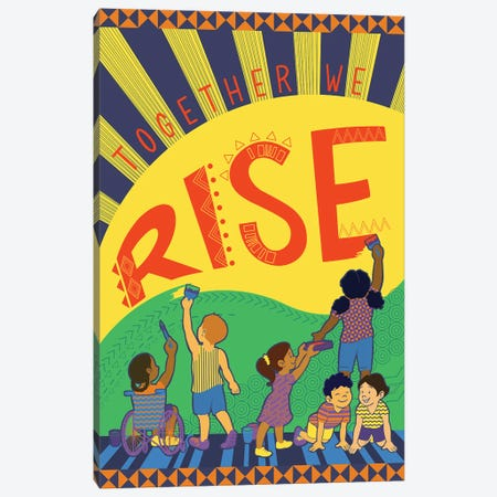 Together We Rise Canvas Print #KDR1} by Kris Duran Art Print