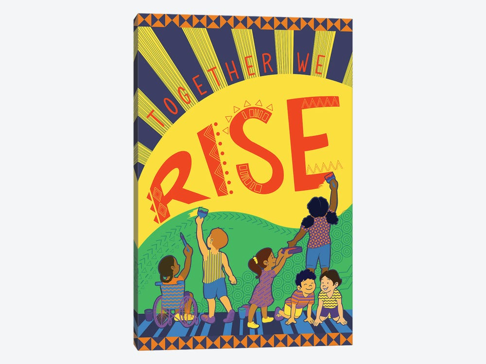 Together We Rise by Kris Duran 1-piece Canvas Artwork