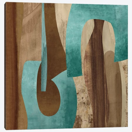 Aqua Turns I Canvas Print #KEB2} by Kevin Baker Art Print