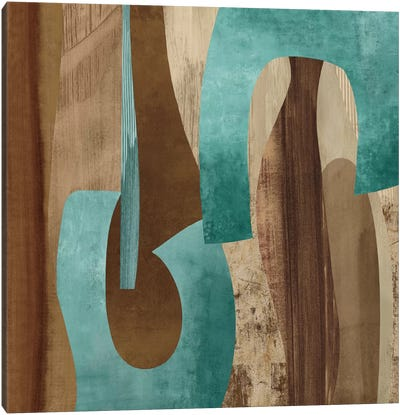 Aqua Turns I Canvas Art Print