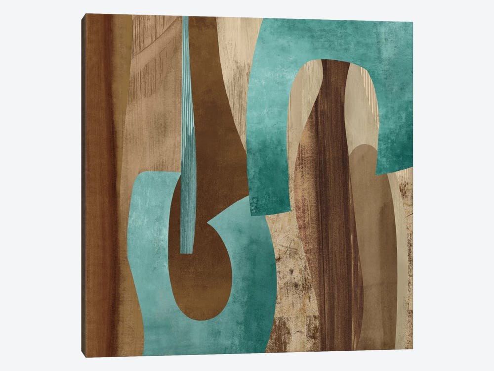 Aqua Turns I by Kevin Baker 1-piece Canvas Wall Art