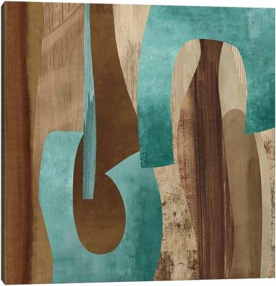 Aqua Turns I Canvas Art Print