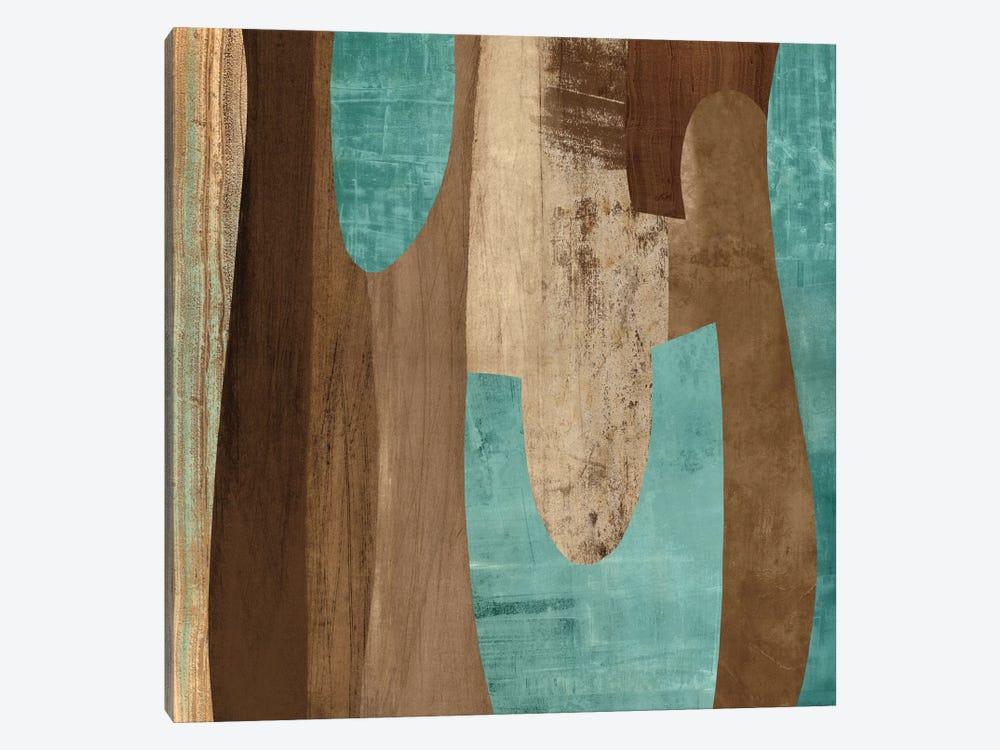 Aqua Turns II by Kevin Baker 1-piece Canvas Art Print