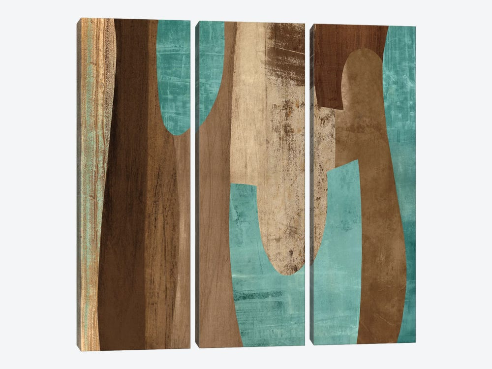 Aqua Turns II by Kevin Baker 3-piece Canvas Art Print