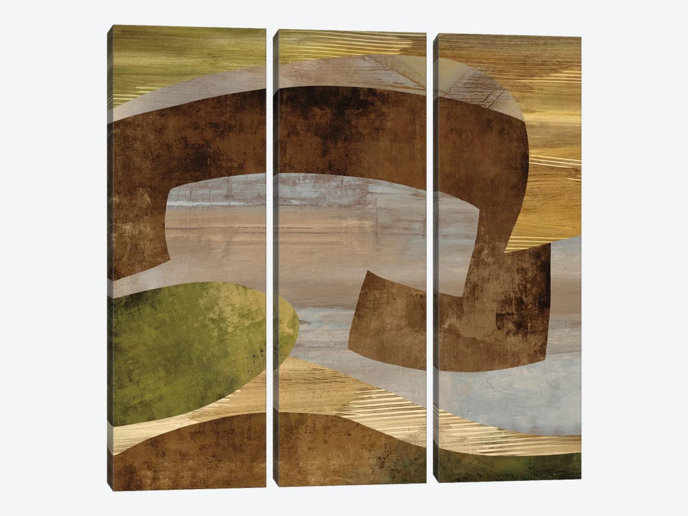 Conjunction I by Kevin Baker 3-piece Canvas Artwork