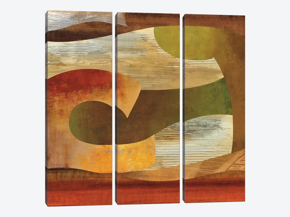 Systematic I by Kevin Baker 3-piece Canvas Print