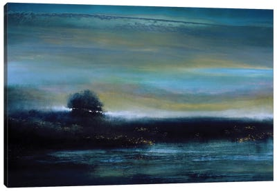 Indigo Evening Canvas Art Print