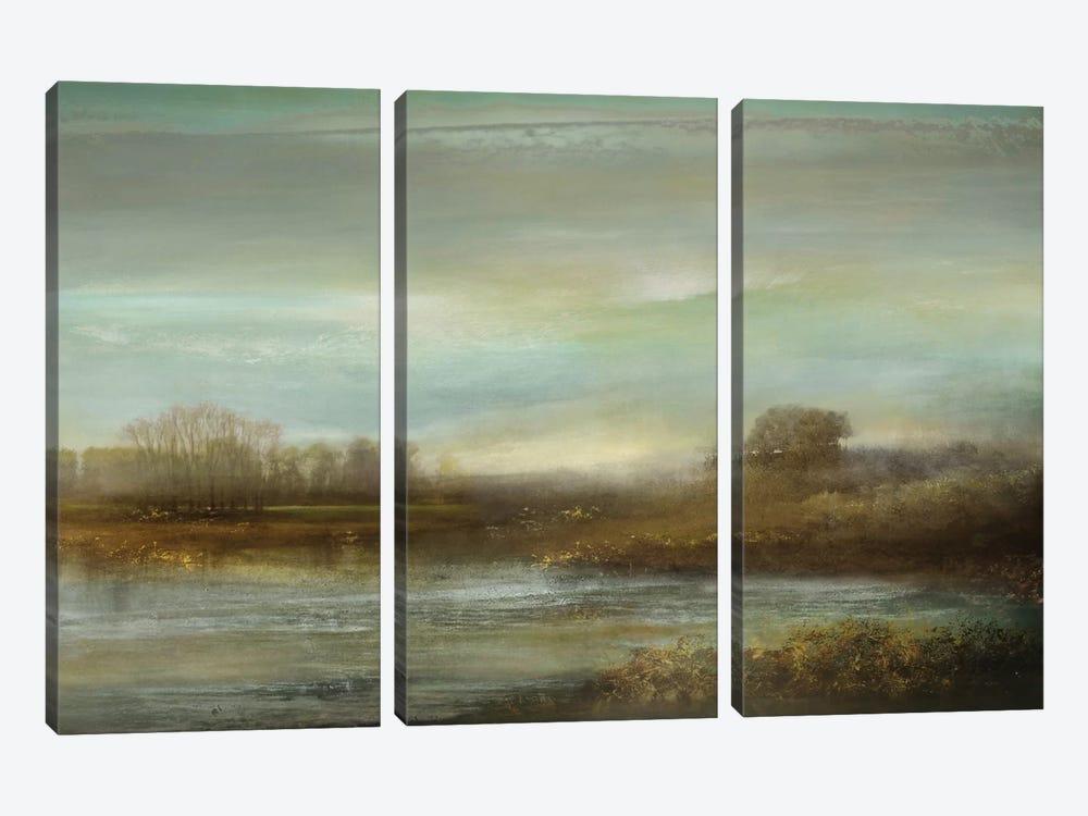 Mist On The Pond by Kelly Corbin 3-piece Canvas Print