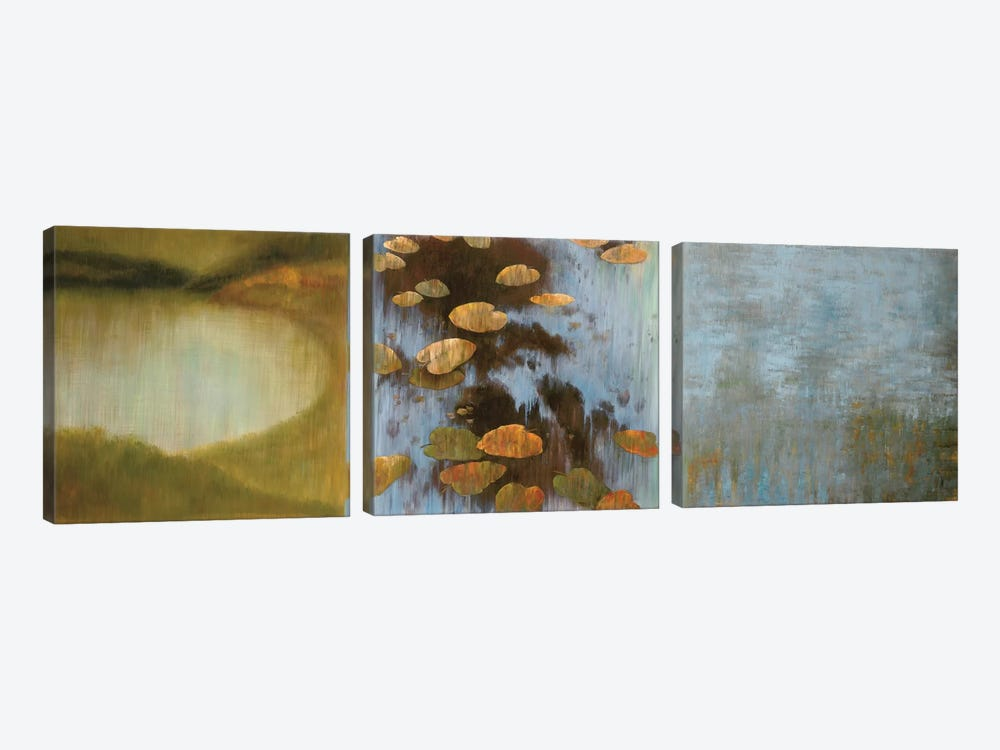 Peaceful Places I by Kelly Douglas 3-piece Canvas Print