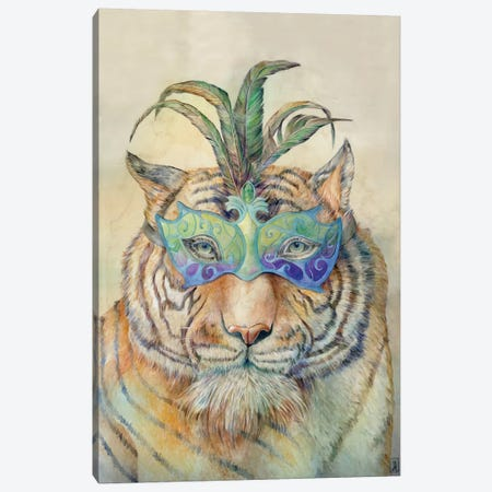 Masquerading Tiger Canvas Print #KEE13} by Brandon Keehner Canvas Artwork