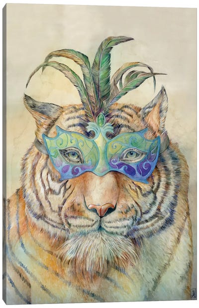 Masquerading Tiger Canvas Art Print