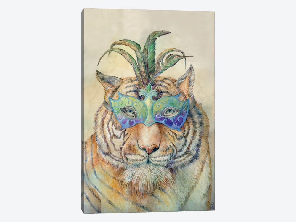 Masquerading Tiger by Brandon Keehner 1-piece Canvas Artwork