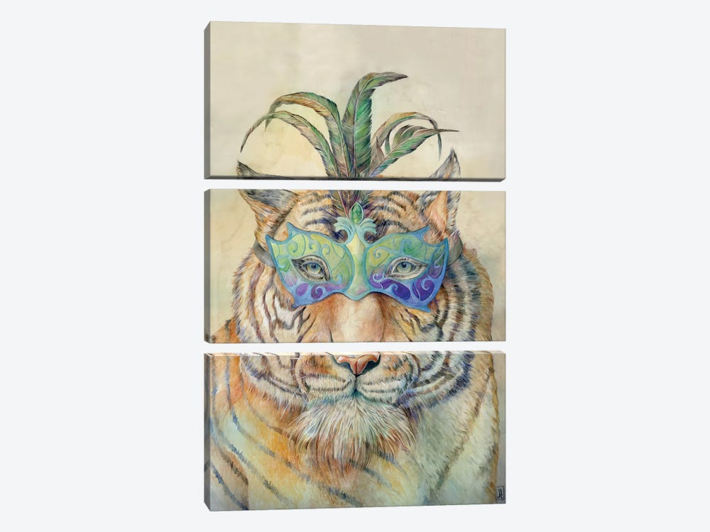 Masquerading Tiger by Brandon Keehner 3-piece Canvas Artwork
