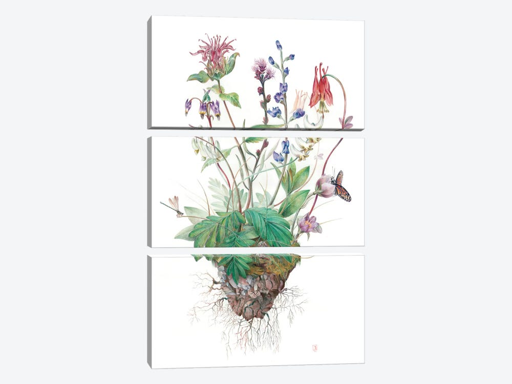 Wildflowers by Brandon Keehner 3-piece Canvas Print