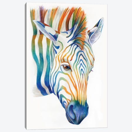 Zebra Canvas Print #KEE15} by Brandon Keehner Canvas Print