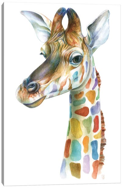Colorful Giraffe Canvas Art Print
