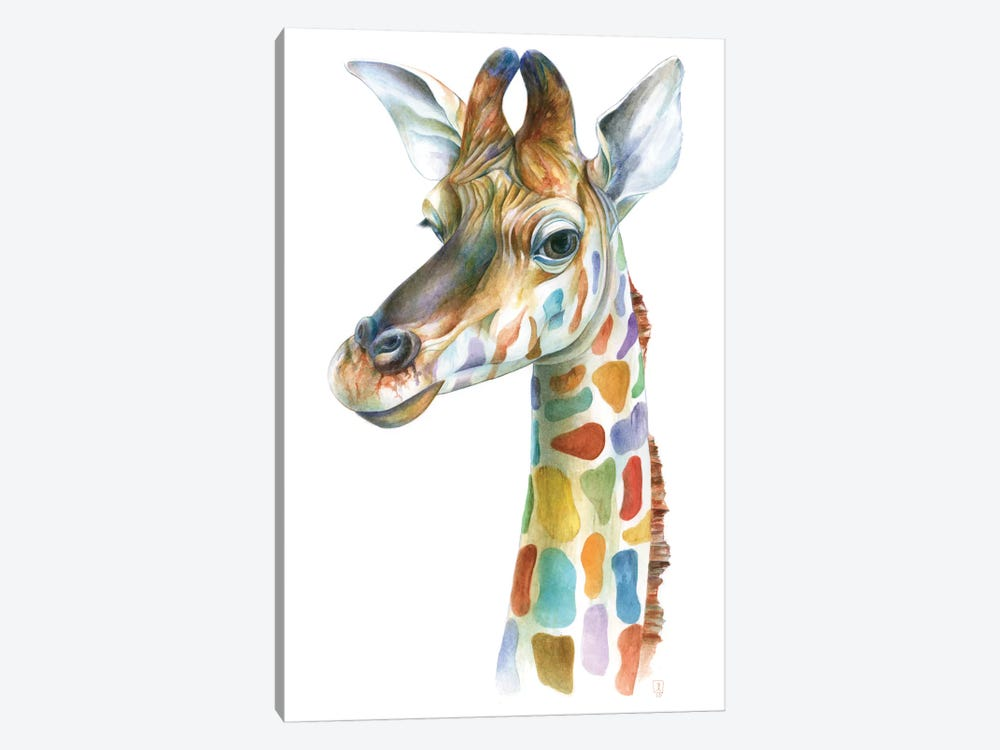 Colorful Giraffe 1-piece Canvas Artwork
