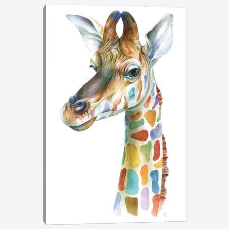 Colorful Giraffe Canvas Print #KEE5} by Brandon Keehner Canvas Art Print