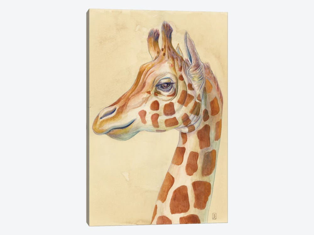 Giraffe Profile by Brandon Keehner 1-piece Canvas Artwork