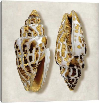 Golden Ocean Gems On Ivory I Canvas Art Print