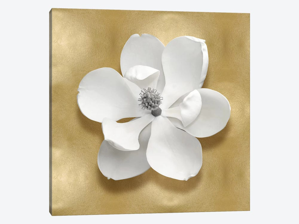 Flower On Gold I 1-piece Canvas Art Print