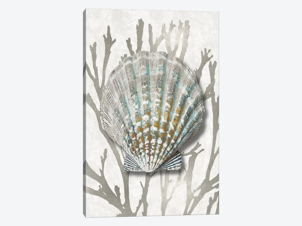 Shell Coral Silver IV by Caroline Kelly 1-piece Art Print