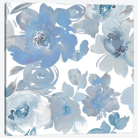 Springtime Blue and Silver I Canvas Print #KEM13} by Kelsey Morris Canvas Art