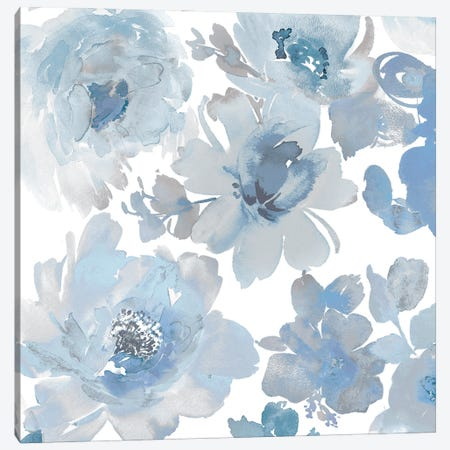 Springtime Blue and Silver II Canvas Print #KEM14} by Kelsey Morris Canvas Art Print