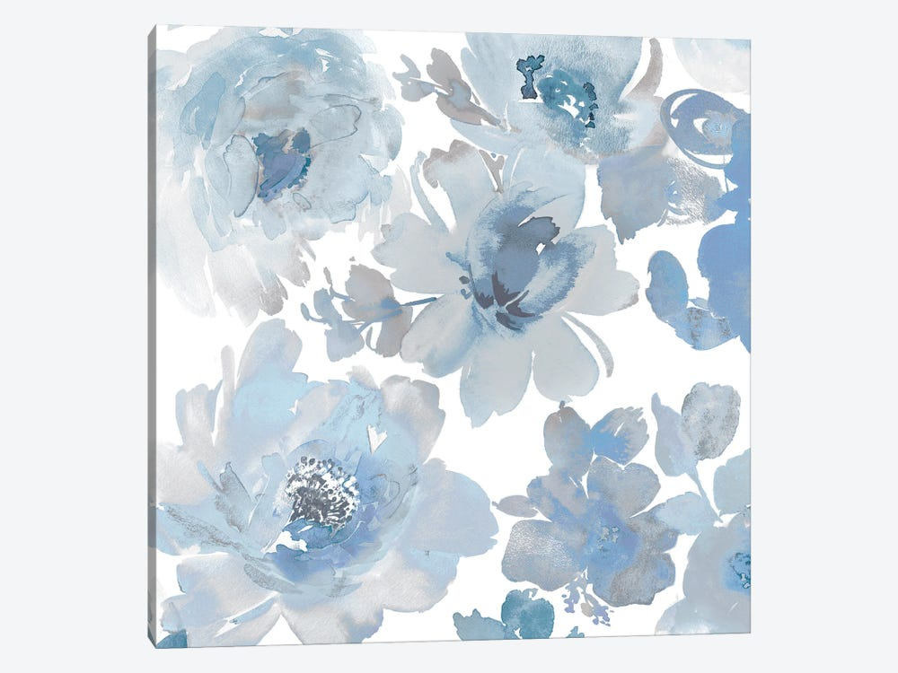 Springtime Blue and Silver II by Kelsey Morris 1-piece Canvas Art