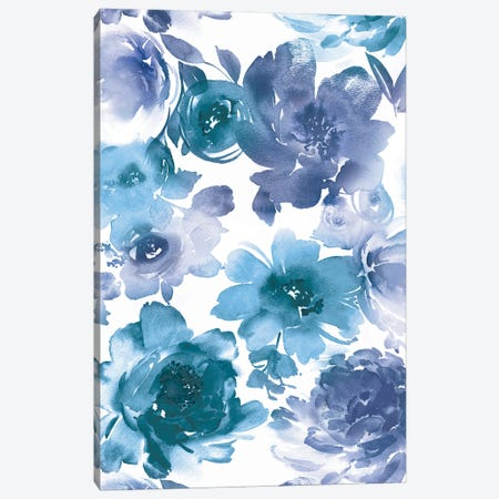 Springtime Indigo and Teal Canvas Print #KEM17} by Kelsey Morris Canvas Art Print