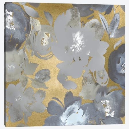 Springtime Silver on Gold I Canvas Print #KEM29} by Kelsey Morris Art Print