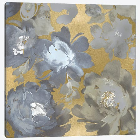 Springtime Silver on Gold II Canvas Print #KEM30} by Kelsey Morris Canvas Wall Art