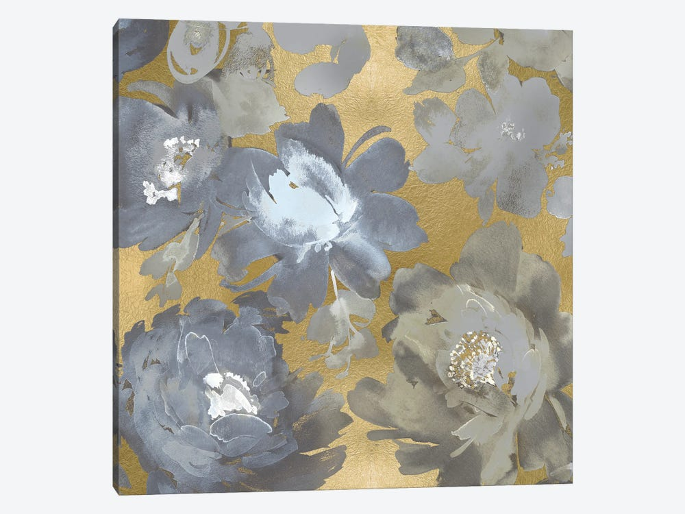 Springtime Silver on Gold II by Kelsey Morris 1-piece Canvas Wall Art