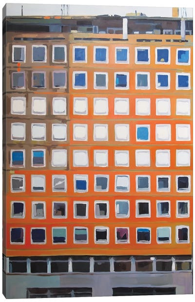 Office Blocks Series: Prince Consort House Canvas Print #KER11