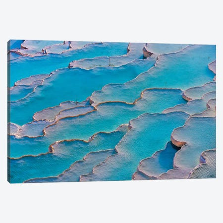 Travertine terraces of Pamukkale (UNESCO World Heritage Site), Turkey Canvas Print #KES100} by Keren Su Canvas Art
