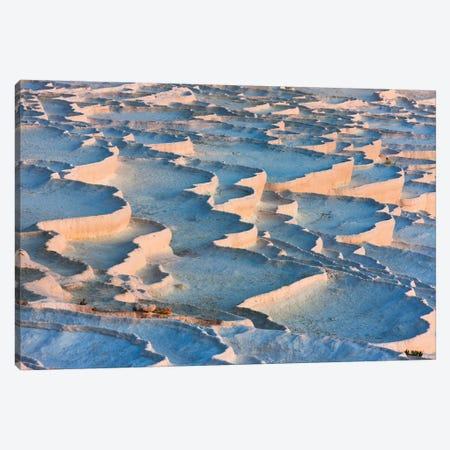 Travertine terraces of Pamukkale (UNESCO World Heritage Site), Turkey Canvas Print #KES101} by Keren Su Canvas Art