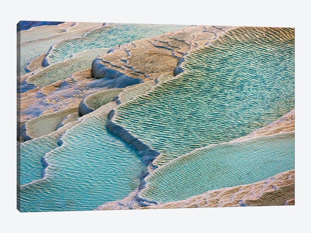 Travertine terraces of Pamukkale (UNESCO World Heritage Site), Turkey by Keren Su 1-piece Art Print