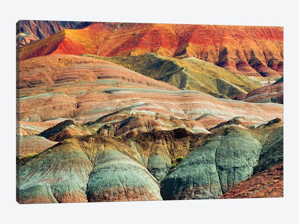 Colorful mountains in Zhangye National Geopark, Zhangye, Gansu Province, China by Keren Su 1-piece Canvas Artwork