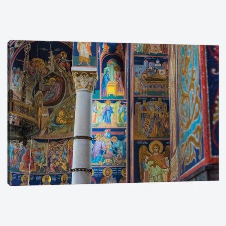 Mosaic painting inside Oplenac Royal Mausoleum, also known as Saint George's Church, Topola, Serbia. Canvas Print #KES116} by Keren Su Canvas Artwork